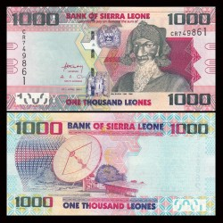 SIERRA LEONE - Billet de 1000 Leones - Bai Bureh - 27.04.2010 P30a