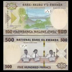 RWANDA - Billet de 500 Francs - Passerelle suspendue - 2019
