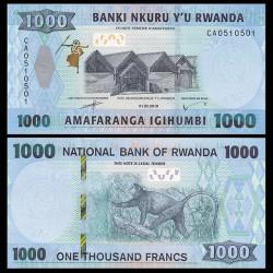 RWANDA - Billet de 1000 Francs - Singe doré - 2019