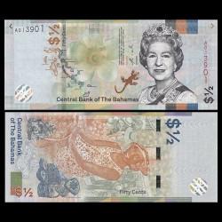 BAHAMAS - Billet de 1/2 Dollar - 2019 P77Аa