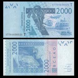 BCEAO - TOGO - Billet de 2000 Francs - Mérou - 2003 / 2017