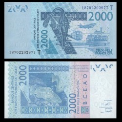 BCEAO - TOGO - Billet de 2000 Francs - Mérou - 2003 / 2018