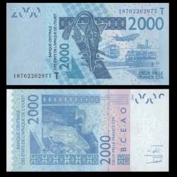 TOGO - Billet de 2000 Francs - Mérou - 2003 / 2018 P816t?