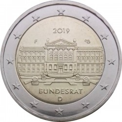 ALLEMAGNE - PIECE de 2 Euro - Bundesrat - 2019 - F - Stuttgart Km#new