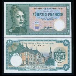 LIECHTENSTEIN - Billet de 50 Franken- Femme au médaillon - 2019