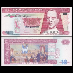 GUATEMALA - Billet de 10 Quetzales - 25.08.2006