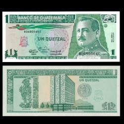 GUATEMALA - Billet de 1 Quetzal - Général José María Orellana - 1990