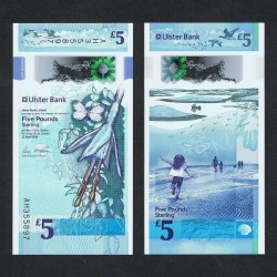 IRLANDE DU NORD - Ulster Bank Limited - 5 Pounds - Polymer - 2018 P343a