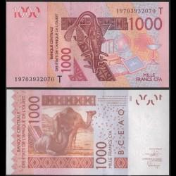 TOGO - Billet de 1000 Francs - Chameaux - 2003 / 2019