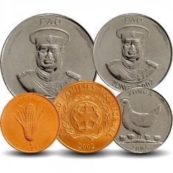 TONGA - SET / LOT de 5 PIECES de 1 2 5 10 20 Seniti - 1996 2002 2005