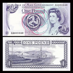 MAN (île de) - Billet de 1 Pound - Tynwald Hill - 2009