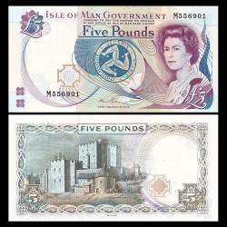 MAN (île de) - Billet de 5 Pounds - Castle Rushen - 2015