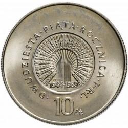 POLOGNE - PIECE de 10 zlotych - République du peuple - 1969
