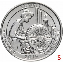 ETATS-UNIS / USA - PIECE de 25 Cents - America the Beautiful - Lowell National Historical Park - 2019