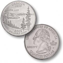 ETATS-UNIS / USA - PIECE de 25 Cents (Quarter States) - Orégon - 2005