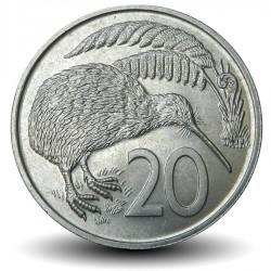 NOUVELLE ZELANDE - PIECE de 20 Cents - Oiseau KIwi - 1968