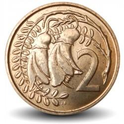 NOUVELLE ZELANDE - PIECE de 2 Cents - Fleur kowhai - 1968
