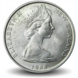 NOUVELLE ZELANDE - PIECE de 5 Cents - Réptile sphénodon - 1968