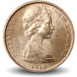 NOUVELLE ZELANDE - PIECE de 1 Cent - Feuille de fougère - 1968