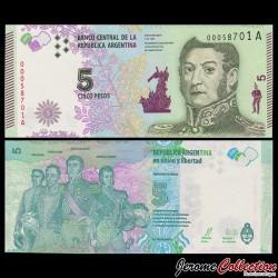 ARGENTINE - Billet de 5 Pesos - 2015