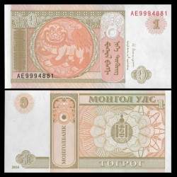 MONGOLIE - Billet de 1 Tögrög - 2014 P61Ab