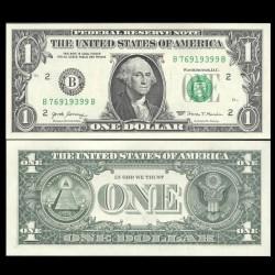 ETATS UNIS / USA - Billet de 1 DOLLAR - 2017 - B(2) New York P544b