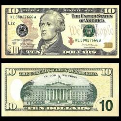 ETATS UNIS - Billet de 10 DOLLARS - 2017 - L(12) San Francisco