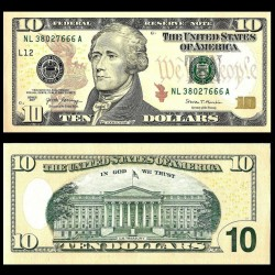ETATS UNIS / USA - Billet de 10 DOLLARS - 2017 - L(12) San Francisco P545a