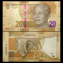 AFRIQUE DU SUD - Billet de 20 Rand - ELEPHANT - 2015