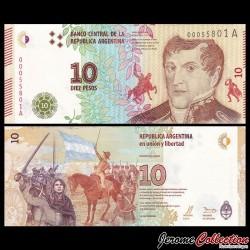 ARGENTINE - Billet de 10 Pesos - 2016