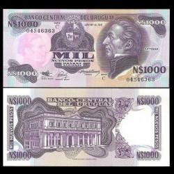 URUGUAY - Billet de 1000 Nuevos Pesos - Général José Gervasio Artigas - 1991 P64Aa