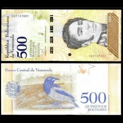 VENEZUELA - Billet de 500 Bolivares - Oiseau Oriole troupiale - 18.05.2018