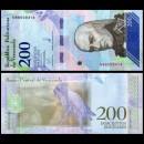 VENEZUELA - Billet de 200 Bolivares - Oiseau Ara militaire - 13.03.2018