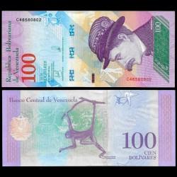 VENEZUELA - Billet de 100 Bolivares - Singe-araignée - 18.05.2018