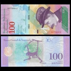 VENEZUELA - Billet de 100 Bolivares - Singe-araignée - 22.03.2018