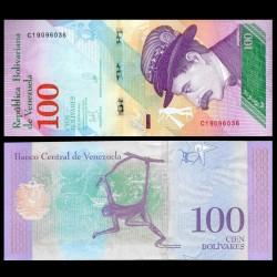 VENEZUELA - Billet de 100 Bolivares - Singe-araignée - 15.01.2018