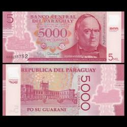 PARAGUAY - Billet de 5000 - Don Carlos Antonio López - Polymer - 2017
