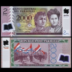 PARAGUAY - Billet de 2000 - Adela and Celsa Speratti - Polymer - 2017