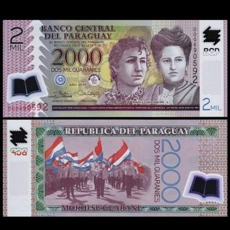 PARAGUAY - Billet de 2000 - Adela and Celsa Speratti - Polymer - 2017 P228d