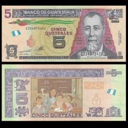 GUATEMALA - Billet de 5 Quetzales - 14.05.2014