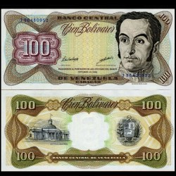 VENEZUELA - Billet de 100 Bolivares - Simón Bolívar - 1998