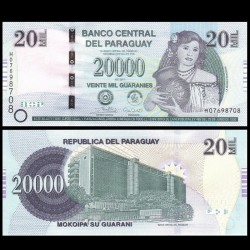 PARAGUAY - Billet de 20000 Guaranies - Femme paraguayenne - 2017