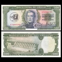 URUGUAY - Billet de 0,50 Nuevos Pesos - Général José Gervasio Artigas - 1975 P54a