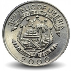 LIBERIA - PIECE de 5 Cents - Dragon - 2000