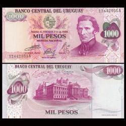 URUGUAY - Billet de 1000 Pesos - Général José Gervasio Artigas - 1974 P52b