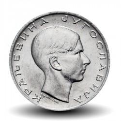 YOUGOSLAVIE - PIECE de 10 dinara - roi Pierre II - 1938 Km#22