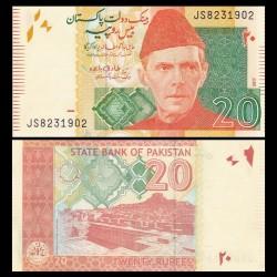 PAKISTAN - Billet de 20 Roupies - Mohenjo-daro - 2017