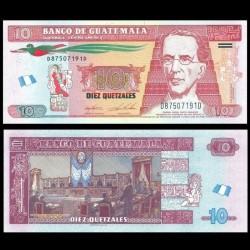 GUATEMALA - Billet de 10 Quetzales - 28.01.2015