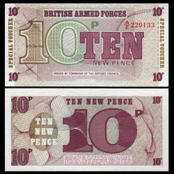 ROYAUME-UNI / ARMEE - Billet de 10 New Pence - 1972