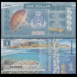 OCEAN INDIEN / INDIAN OCEAN - Billet de 1 DOLLAR - Méduse - 2017
